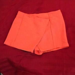 Topshop Quilted Shorts/Skorts - Fluorescent Orange